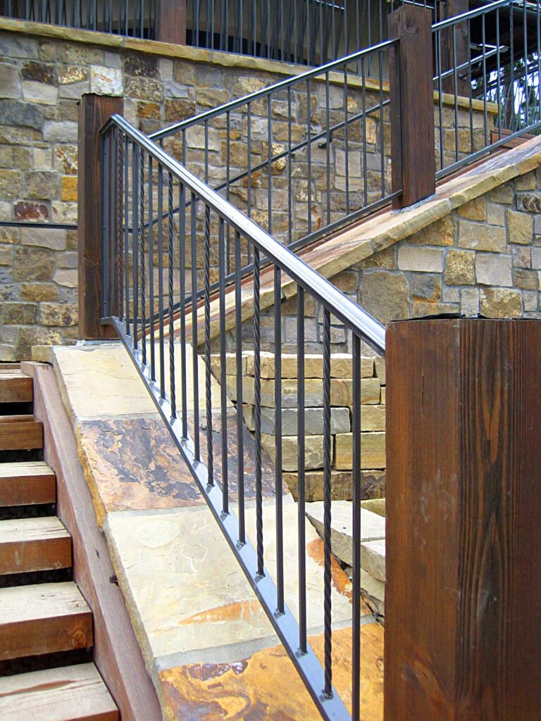 custom metal railing metal stairway iron fencing apartment handrails