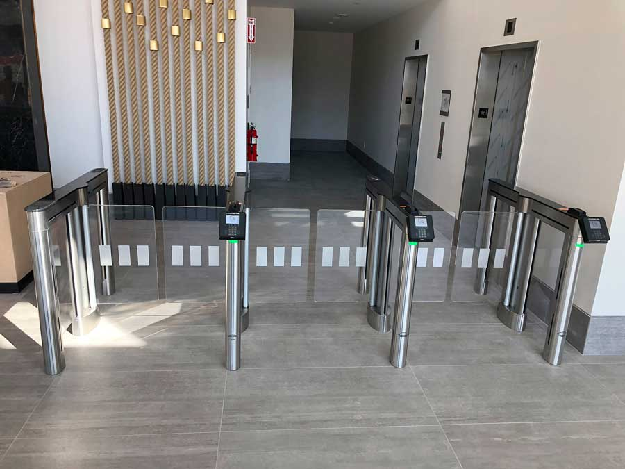 physical security specialist turnstile installation entry control system guard stations drop gates anti ram entry gates