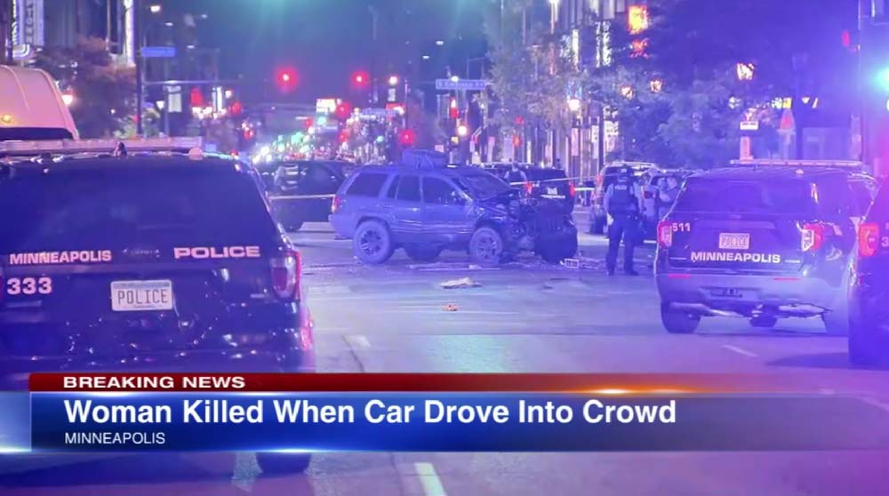 Woman killed after car plunges into Minneapolis protest